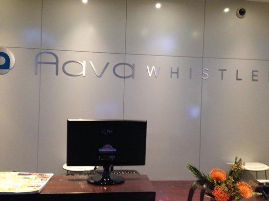 Aava Whistler Hotel: Recepção