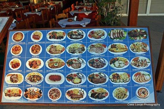 Restaurant Olympias: Wat is er te eten?