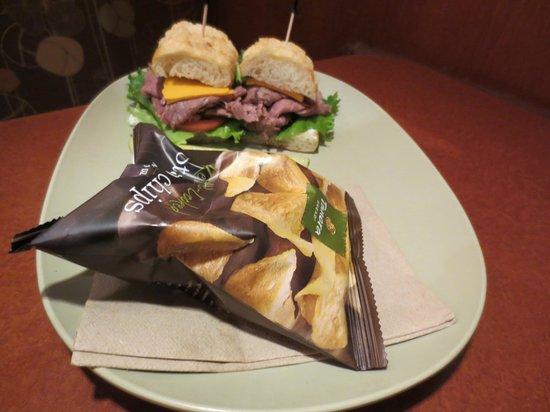 Panera Bread: Asiago Roast beef sandwich
