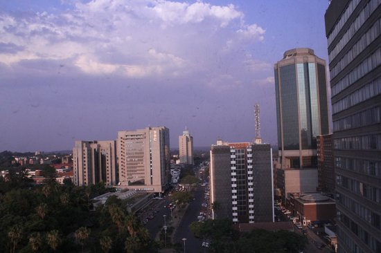 Monomotapa Hotel- Legacy: Harare skyline from the room..