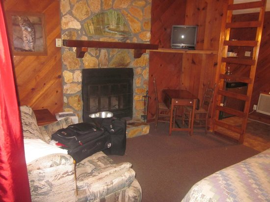 Timberloft Cottages and Cabins: Fireplace