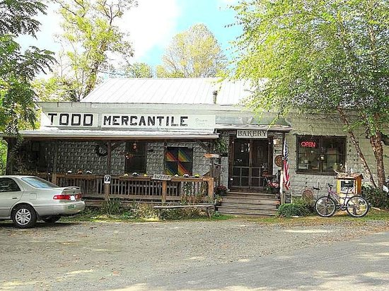 Todd, NC: outside mercantile