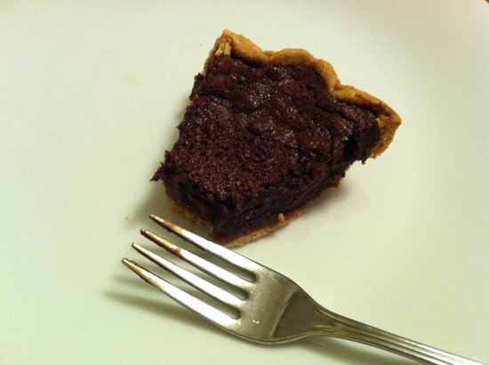 One bite into the best chocolate pie I know of...Choc. Chess