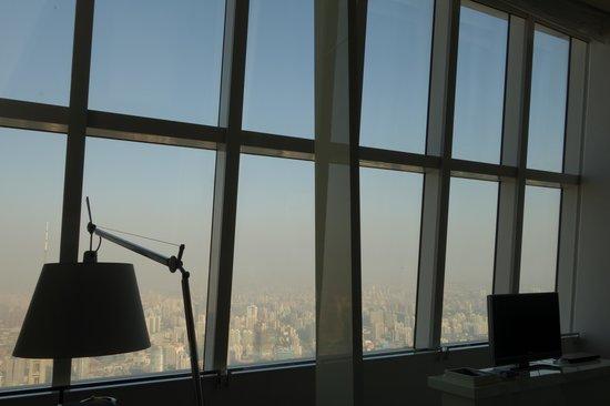 Park Hyatt Shanghai: Super Fensterfront mit Aussicht.