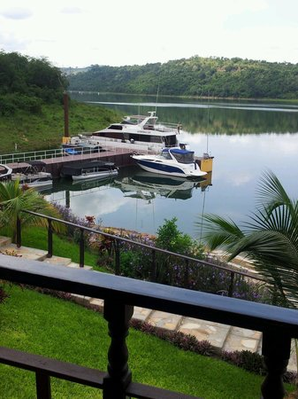 Volta Hotel Akosombo: Getting ready for our cruise on the river