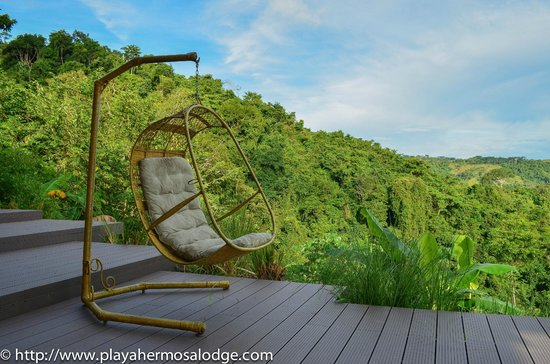 Playa Hermosa Lodge: Relax with ocean et rainforest view