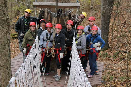 Hocking Hills Canopy Tours: Group Shot