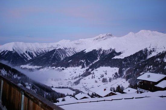 Naturfreundehaus Davos-Clavadel: Aussicht von der Privatterrasse