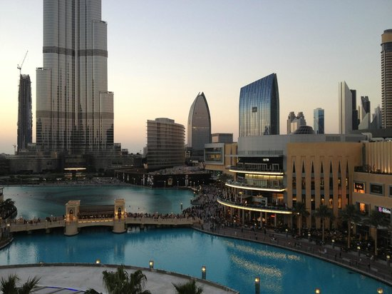 Address Downtown: View from lounge balcony