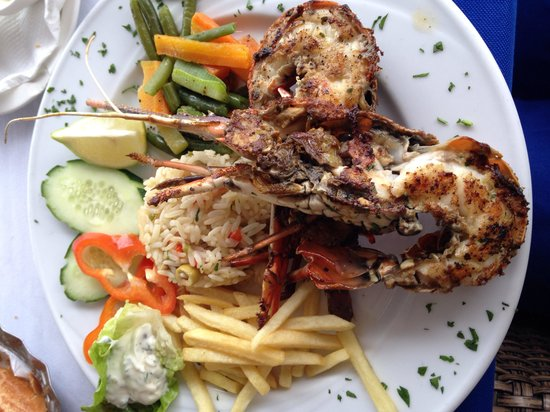 Langouste grill e picture of la cote d 39 or cafe for Cuisine queue de langouste