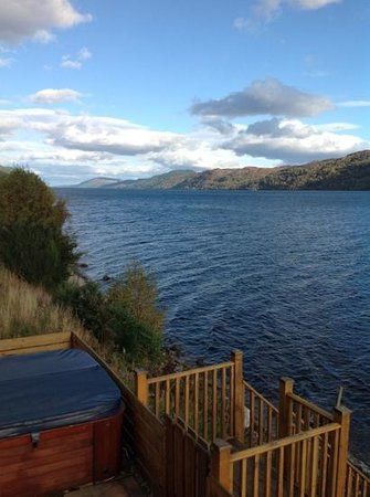 Loch Ness Highland Lodges: uninterrupted views from hot tub :-)