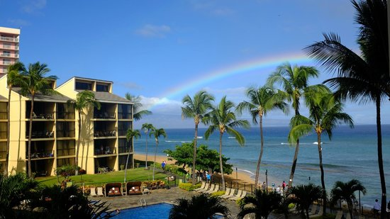 Aston Kaanapali Shores: View from room one morning!