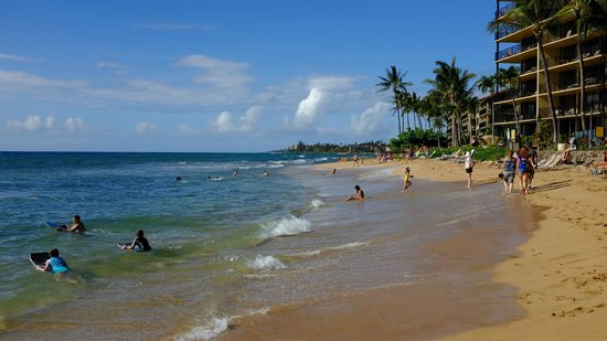 Aston Kaanapali Shores: Beach area in front of Hotel, very easy access.