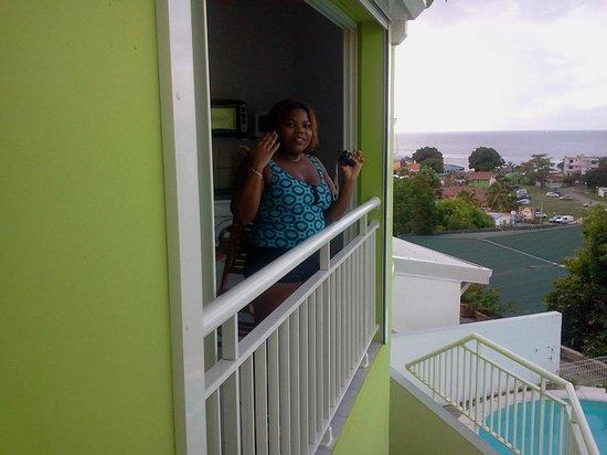 Résidence Villa Melissa : vue sur le balcon de la salle a manger