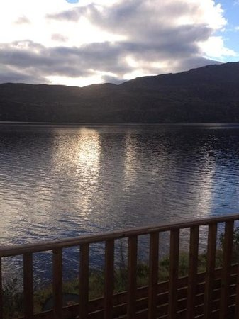 Loch Ness Highland Lodges : view from decking lodge 4