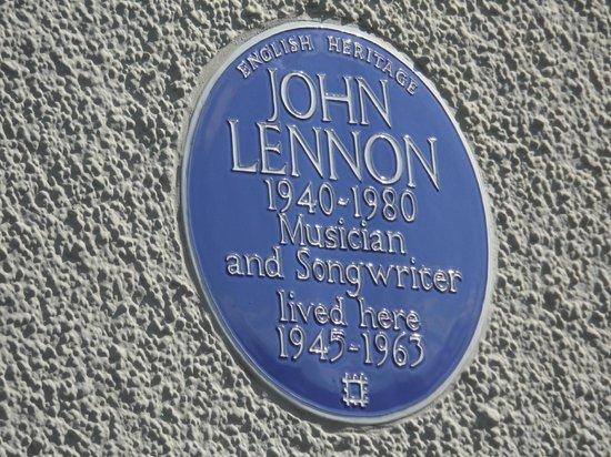 Mendips - John Lennon Home: Placa