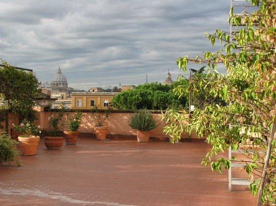 Hotel Giulio Cesare: la terrasse du 5è étage