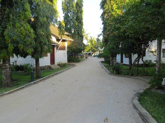 Pinewood Beach Resort & Spa: allées devant l'entrée des chambres