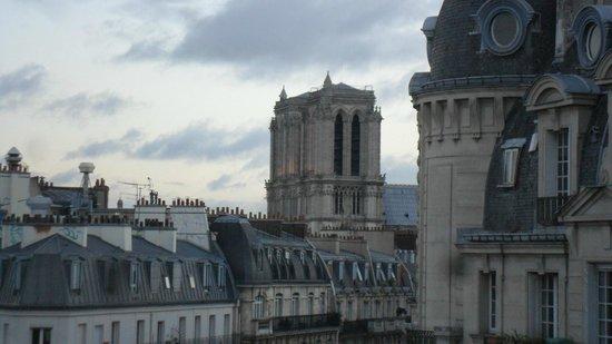 Mercure Paris Notre Dame Saint Germain des Pres : Dal terrazzino Notre-Dame.