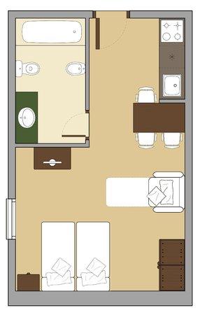 Alaska Aparthotel : ESTUDIO 3