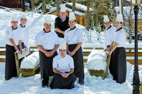 Kuchenbrigade Picture Of Restaurant Waldhaus Leukerbad Tripadvisor