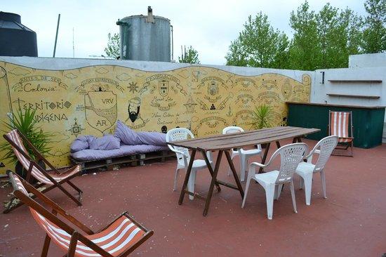 El Viajero Hostel & Suites: terraço