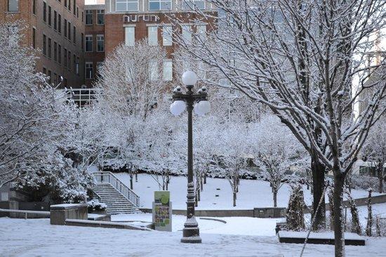 Universite du Quebec a Montreal (UQAM): Foto em frente a UQAM