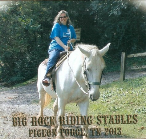 "Big Rock Dude Ranch at Ponderosa : Louisiana, or ""Weezie,"" as she is known, giving me a lift."