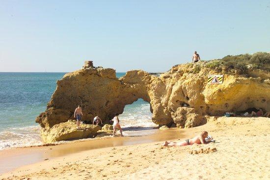 Beach Caffe: Typischer Central Algarve Strand