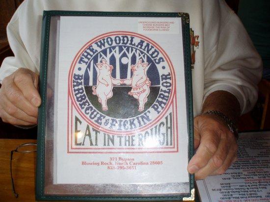 Woodlands Barbeque Restaurant & Catering Service: menu