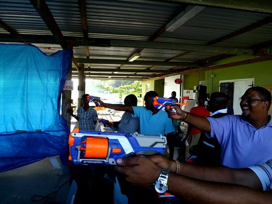 Ground Zero Gallery: Shooting Nerf   @ Barbados Soft Dart Shooting Gallery (Ground Zero) & Barbados Rifle Assocation