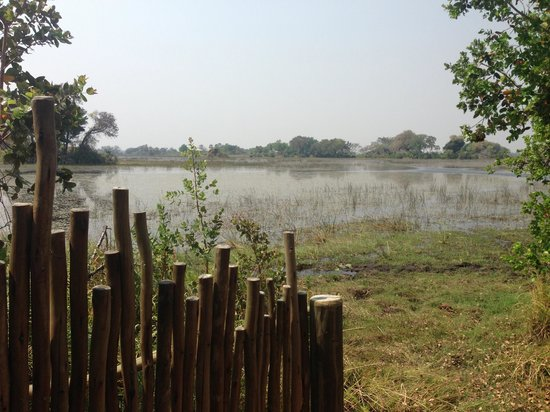 Jacana Tented Safari Camp : View from Outside Shower