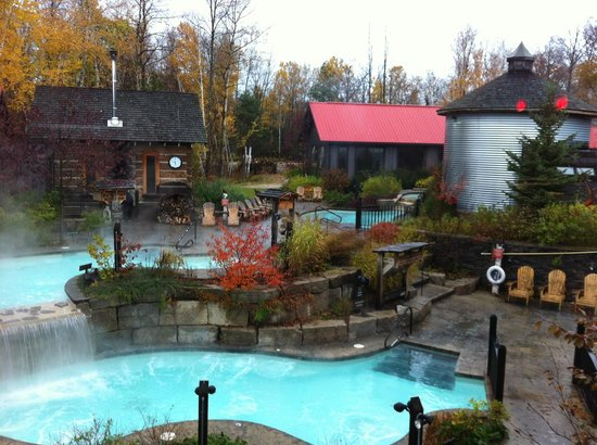 Hot Baths Lounge Room And Steam Room Picture Of Scandinave Spa At Blue Mountain Blue Mountains Tripadvisor