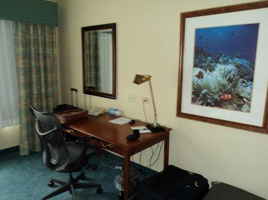 Hilton Garden Inn: Escrivaninha no quarto