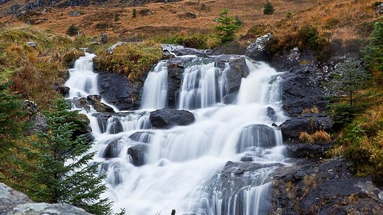 Lochside Guest House : We found this waterfall on our way back from Oban. Me being a Photographer, I couldn't resist st