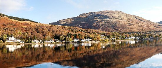 This is the view from the opposite side of the Loch, looking towards the Lochside Guest House. I
