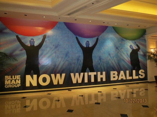 Monte Carlo Resort & Casino: lobby sign for Blue Man Group