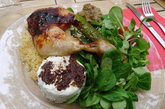 L'Epicerie de Cecile: Chicken, lunch menu