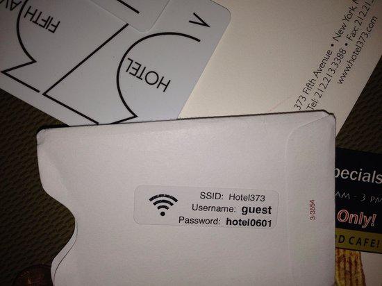 U Hotel Fifth Avenue: Wifi funciona muito bem!!