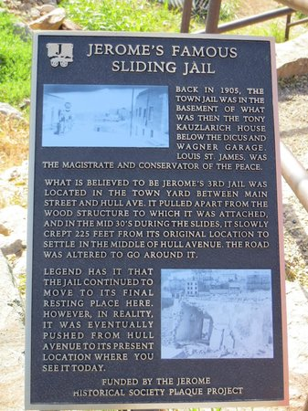Sliding Jail: Historical Plaque