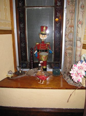 Some of the unique and quirky decoration in the public areas of the Corriemar Guest House.