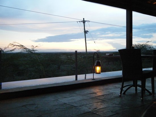 Ole Sereni: View of the NP from hotel restaurant