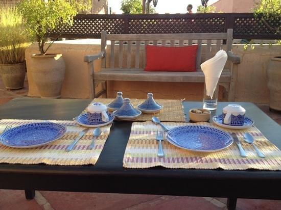 Riad Dar Attajmil: terrazza