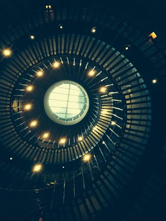 The Westin Warsaw: Staircase viewed from underneath