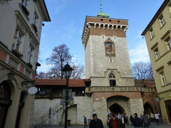 St. Florian's Gate (Brama Florianska): The gate from inside the old city