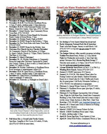 Western Riviera Lakeside Lodging & Events: Grand Lake's Winter Wonderland Calendar