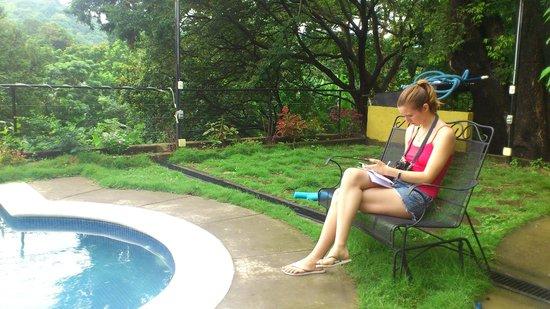 Farmstay El Porton Verde: My daughter enjoying a quiet read