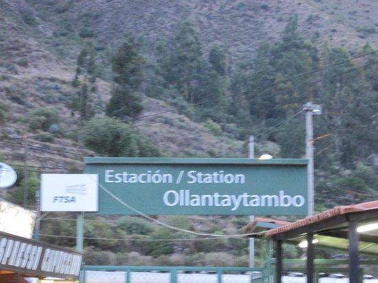 Machu  Picchu market adjacent to the train station: .