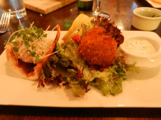 The Old Ground: Fish fritter and fish pate starter