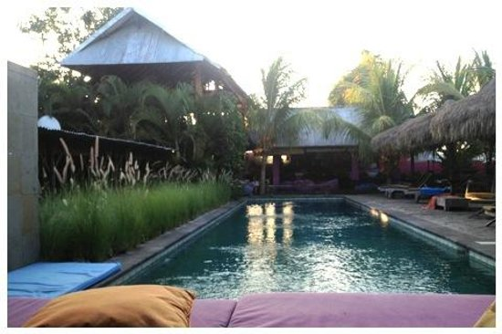 Rapture Surfcamp Bali: View von der Pool Lounge aus